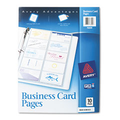 Business card binder pages 20 2 x 3 12 cardspage 10 pagespack business card binder pages 20 2 x 3 12 cardspage colourmoves
