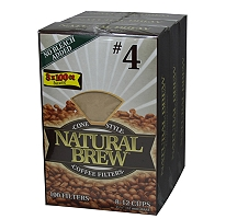 NAUTRAL BREW #4 CONE COFFEE FILTERS - 300CS