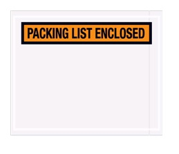 "4.5"" X 5.5"" ORANGE PANEL FACE PACKING LIST ENCLOSED ENVELOPE"