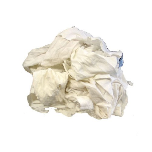 WHITE KNIT RAGS 25# 1BX