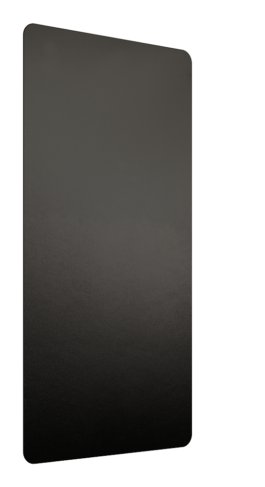 BLACK WALL GUARD ANTI-MICROBIAL PLATIC SET OF 2