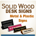 Desk & Counter Signs