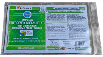 SSS SAFE N EASY EMERGENCY CLEAN UP KIT 36CS