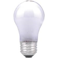 [15A15/W/120V]--15 Watt, 120 Volt White Incandescent Light